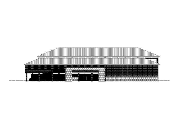 [河南]洛阳师范学院一食堂建筑施工图(CAD)