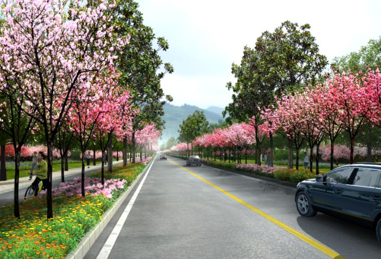 17套乡村道路景观效果图PSD素材(12)