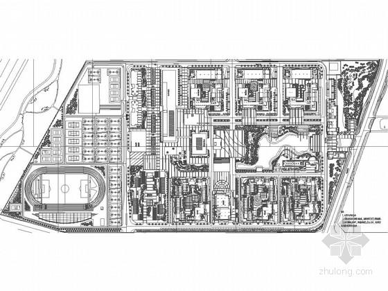 [广东]城市职业技术学校景观规划设计施工图