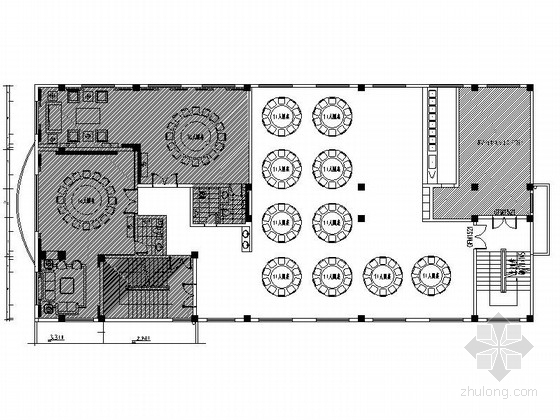 [福建]检察院招待楼餐厅及包厢室内设计施工图(含效果)