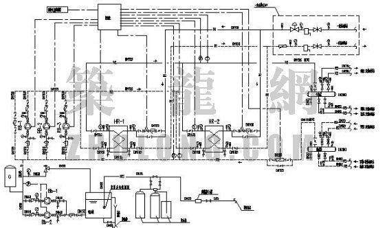 水-水热交换站管路系统流程图