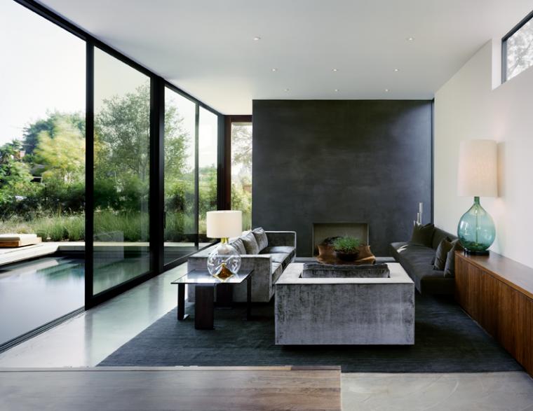 又酷又简洁的现代客厅_2