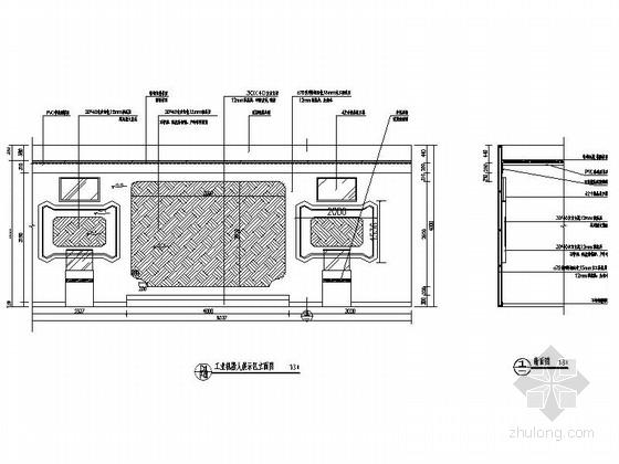 [重庆]高新智能科技功能规划产业园展示厅装修施工图(含效果)工业机器人展示区立面