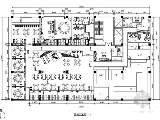 [原创]低调雅致西餐厅设计CAD施工图