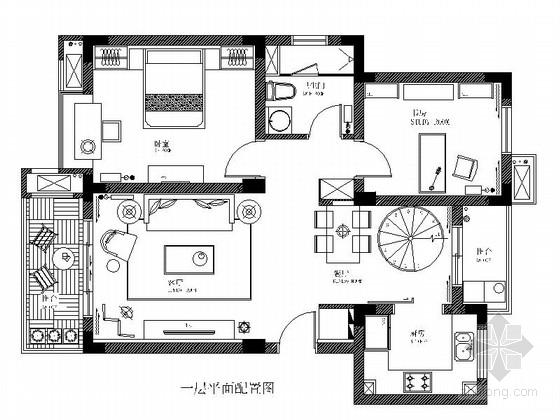 [徐州]国际花园小区两层别墅欧式风格装修图(含效果图)