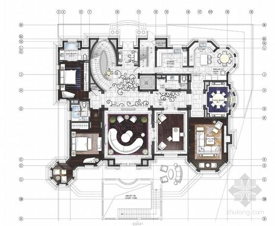 [上海]国际高尔夫社区欧式别墅室内设计概念方案