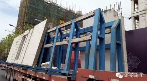 建筑工程装配式高层住宅楼施工现场观摩照片