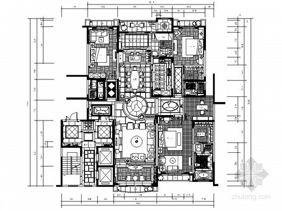 [北京]300㎡大户型台湾设计样板间装修图