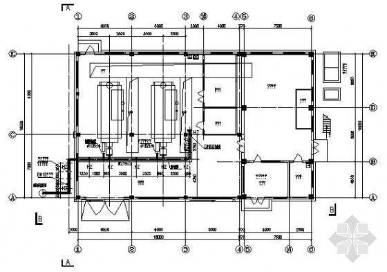 某工厂锅炉房燃气管道设计图