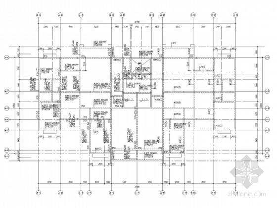 带塔楼19层剪力墙住宅结构施工图(端承桩)