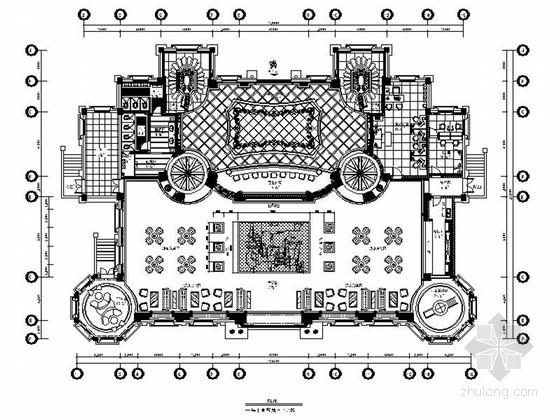 [河南]豪华欧式风格售楼处室内装修施工图(含高清效果、推荐!)