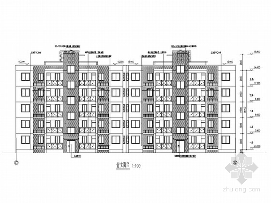 [安徽]五层异形柱框架结构保障性住房结构施工图(含建筑施工图)