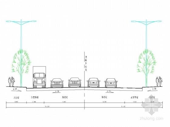 [重庆]城市次干道道路施工图设计20张