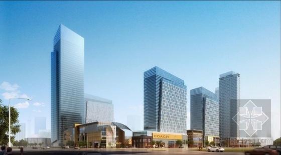 [武汉]超高层一梯四户塔式花园住宅楼建筑设计方案文本(含两套方案)-超高层一梯四户塔式花园住宅楼建筑效果图