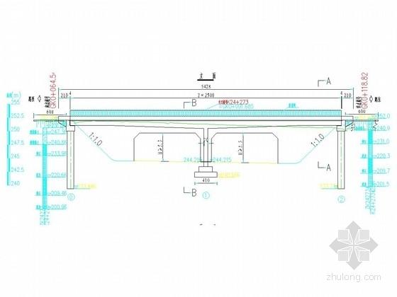 [河南]2×25m预应力混凝土连续梁天桥设计图15张