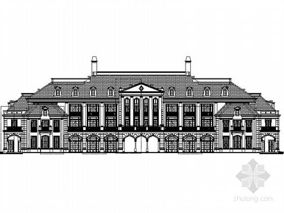 [新疆] 现代风格5层酒店式公寓设计施工图