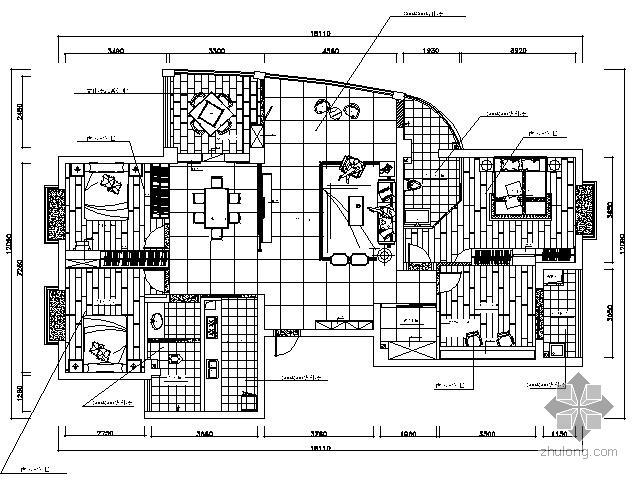 [湖南]141㎡四室两厅装修图(含效果)
