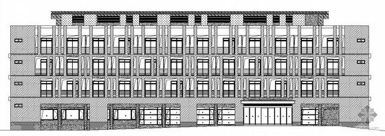 某四层办公建筑、结构施工图(带透视及鸟瞰效果图)