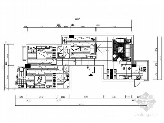 [广州]花园住宅简欧三居室样板房装修图(含效果)
