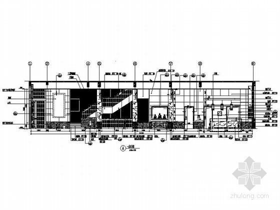 [北京]古典欧式主义两层别墅设计装修图(含实景)客厅立面图