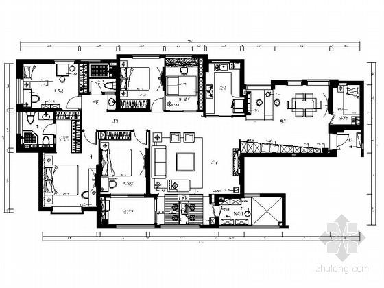 [重庆]滨江半岛现代五居室装修图(含效果实景)