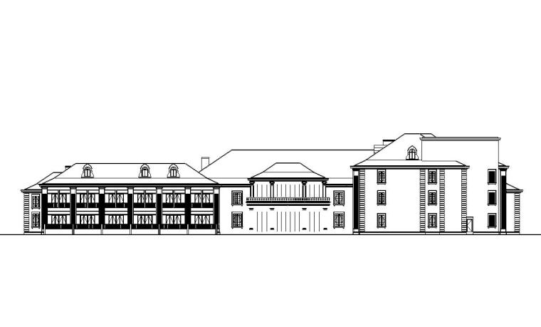 [上海]现代风格瑞金宾馆建筑施工图设计(CAD)