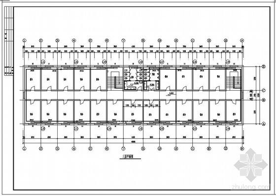 三层宿舍楼采暖平面图