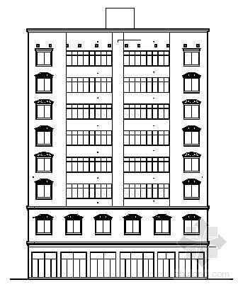 某九层商住楼建筑方案图