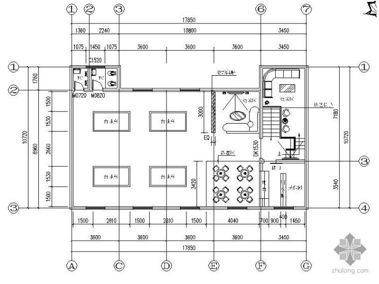 [学生作业]台球厅方案设计图(含效果)
