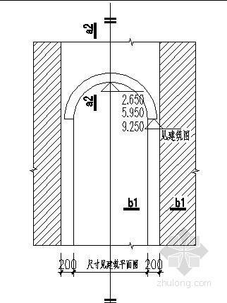 弧门窗上弧过梁详图3(标准型三)