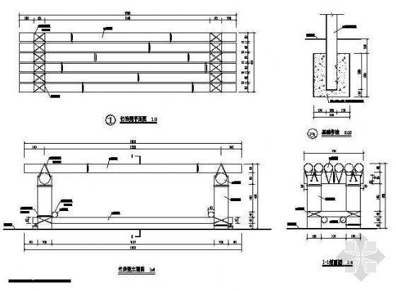 某庭院竹坐凳详图-4
