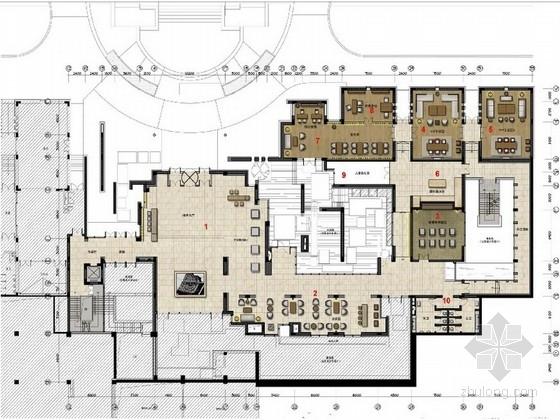 [山东]现代中式风格滨海度假新城售楼处室内设计方案