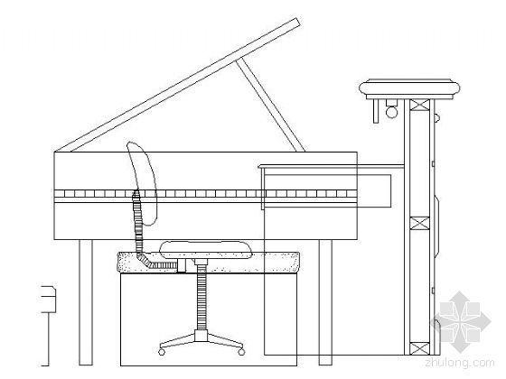 鋼琴平立面圖塊