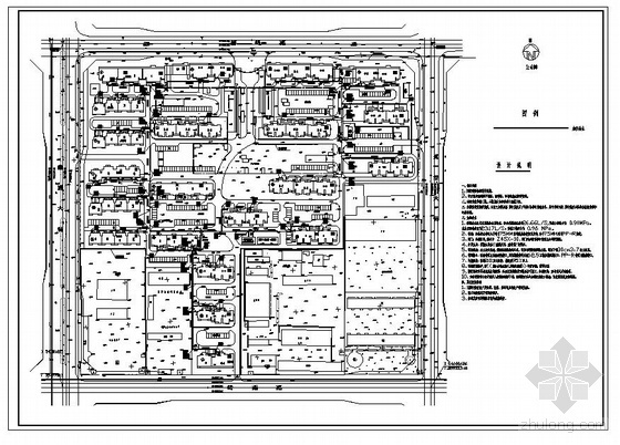 邯郸市某小区室外综合管网图纸