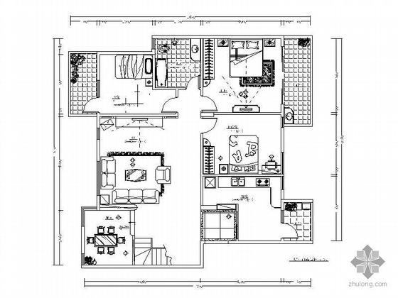 万科中式风复式楼装修图(含效果)