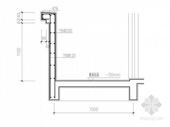 常用住宅阳台剖面节点构造详图
