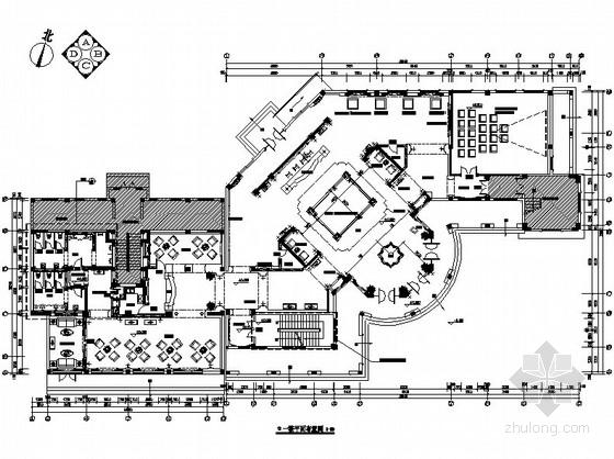 [江苏]某双层豪华售楼处室内装修施工图(含效果)