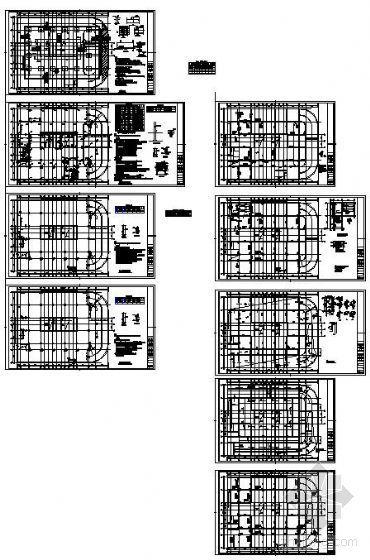 邯郸某招贤大厦地下室及基础结构图