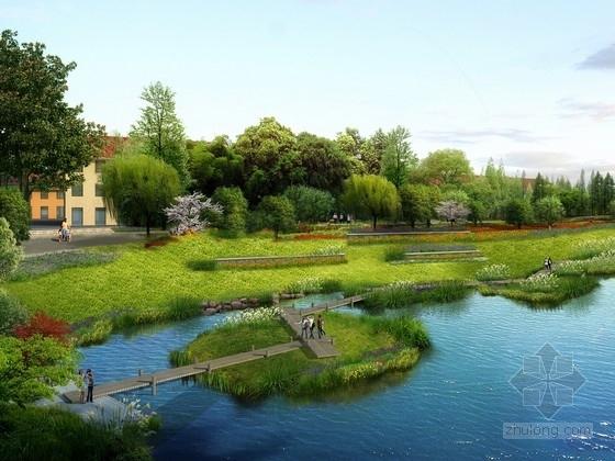 [河南]乐活风情小镇滨水景观带设计方案