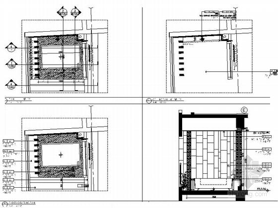 [三亚]度假酒店标准大床房样板房装修图浴缸大样图