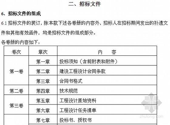 营业生产用房设计招标文件(含设计规范 投资估算表)