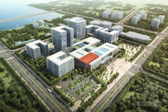[广东]滨海风格集中式布局医院规划及建筑设计方案文本