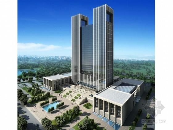 [陕西]超高层现代行政办公楼建筑设计方案文本