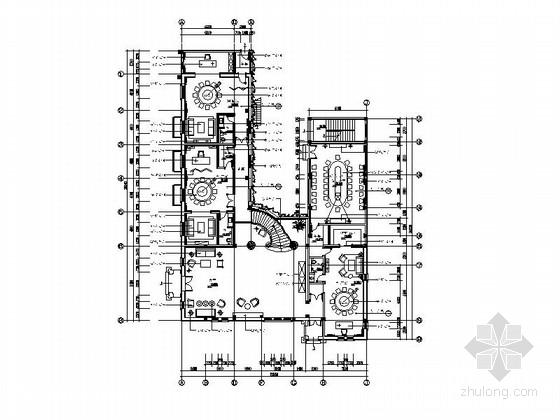 [北京]内招新中式古典会所室内设计装修施工图(含效果)