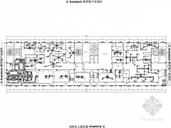 [四川]洁净手术室空调通风设计平面图
