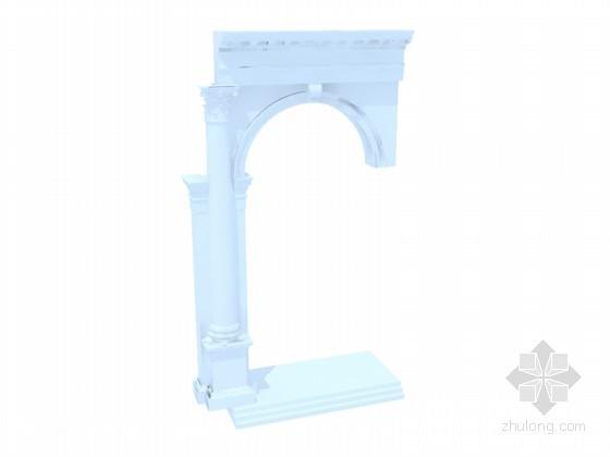 U盘文件读写模块资料下载-欧式构件3D模型下载
