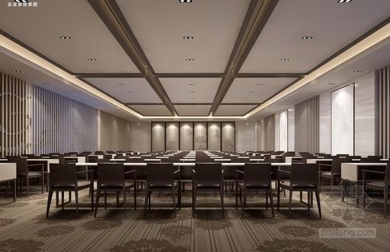 [江苏]徽派建筑风格高端文化会所设计方案会议室效果图