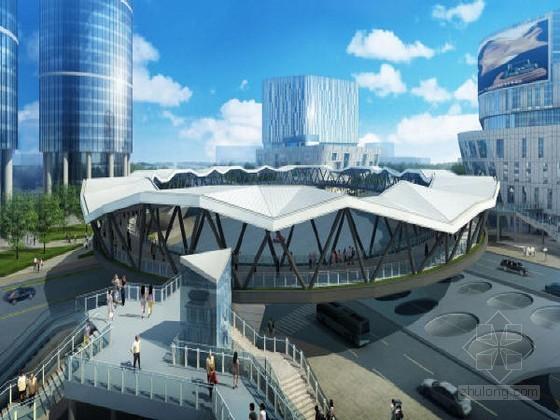[上海]空间管格构桁架钢结构圆形人行天桥实施性施工组织设计169页