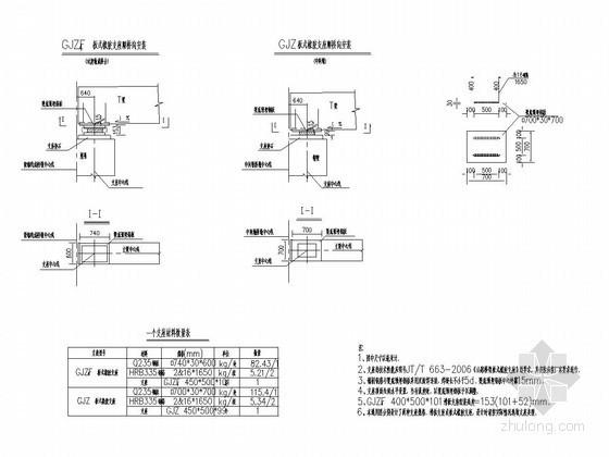 50m简支T梁支座构造通用图