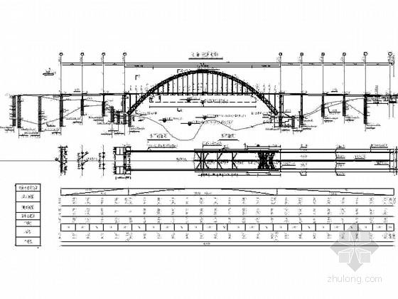 中承式钢管混凝土拱桥CAD施工图